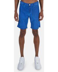 Massimo Alba Velvet Bermuda Short - Blue