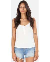 L'Agence Kate Henley Tank Top - Blue