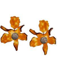 Lele Sadoughi Crystal Lily Earrings - Orange