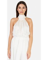 Zimmermann Gathered Bow Tie Blouse - White