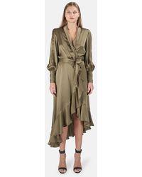 Zimmermann Silk Wrap Midi Dress - Multicolor