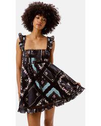 For Love & Lemons Leanne Mini Dress - Black