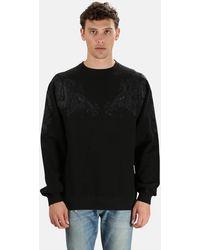 Maharishi Sun Dragon Crew Sweatshirt Jumper - Black