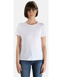 Majestic Filatures Silk Touch Crew T-shirt - White