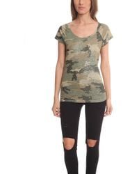 Majestic Filatures - Camo Scoop Neck Raglan - - Lyst