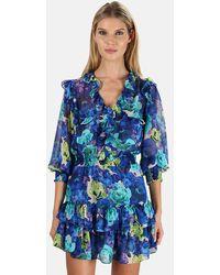 MISA Los Angles Zorina Dress - Blue