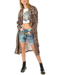 R13 Smoking Robe With Piping Jacket - Multicolor