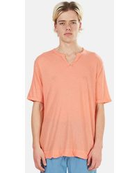 V :: Room Slit Neck T-shirt - Orange