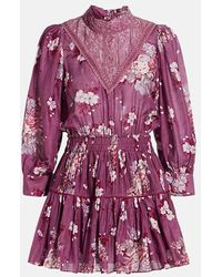 LoveShackFancy Viola Dress - Purple