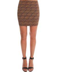 Pleasure Doing Business Banded Mini Skirt - Multicolour
