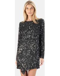 3.1 Phillip Lim Longsleeve Sequin Shift Dress - Black