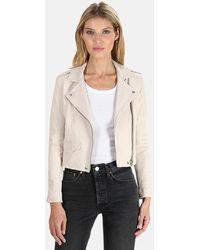 IRO Ashville Leather Jacket - White