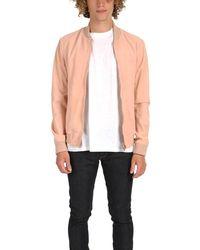 President's Suede Bomber Jacket - Pink