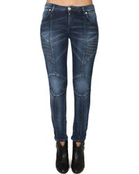 Balmain Stretch Moto Jean - Blue