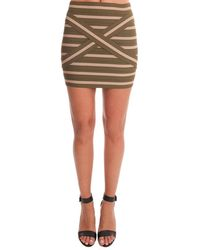 Pleasure Doing Business Cross Band Skirt - Green