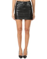 RE/DONE - Leather Buckle Skirt - Lyst