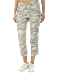 Mother The Shaker Chop Crop Fray Pants - Multicolor