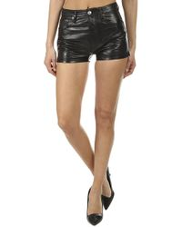 RE/DONE Leather Short - Black