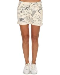 Mother Vagabond Cuff Short Skirt - Multicolour