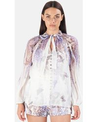 Zimmermann Luminous Lantern Sleeve Blouse - White