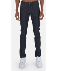 Kato The Needle Skinny 4-way Raw Trousers - Blue