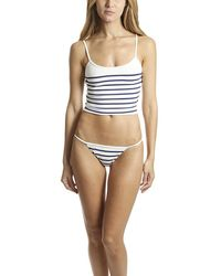Solid & Striped The Nicole Top Navy Stripe - Blue