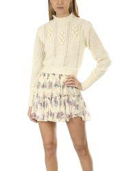 LoveShackFancy Persephone Sweater - Natural