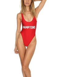 Private Party Hamptons One Piece Swimsuit Swimwear - Red