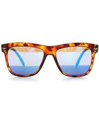 Spektre Reflective Wayfarer Sunglasses - Brown
