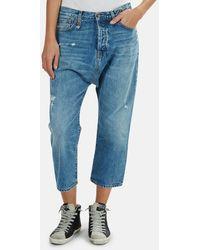 R13 Tailored Drop Denim Trousers - Blue