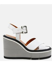 Clergerie Alive Wedge Sandals Shoes - White
