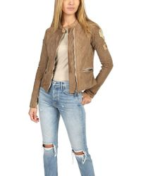 Giorgio Brato - Suede Moto Jacket With Patches - Lyst
