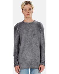 Avant Toi Fine Knit Crewneck Sweater - Grey