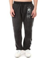 R13 Skull Bolt Field Sweatpants - Black