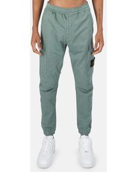Stone Island Cotton Wool Cargo Trousers - Green