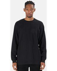 Maharishi Henleys Dpm Logo Long Sleeve T-shirt - Black