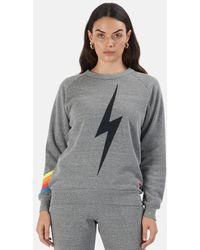 Aviator Nation Bolt Chevron 5 Sweatshirt Sweater - Blue