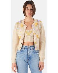 LoveShackFancy Briallon Cardigan Sweater - Natural