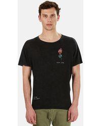 R13 Flaming Rose Boy Graphic T-shirt - Black