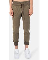 James Perse Mixed Media Trousers - Green