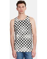Jungmaven Checkerboard Tank Top - Black