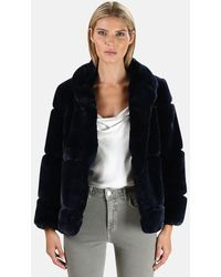 Apparis Sarah Faux Fur Coat - Blue