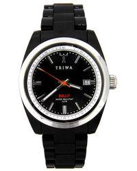Blue & Cream Triwa Black Bullit Watch