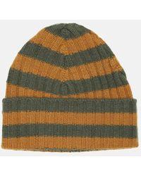 Warm-me Eric Stripe Hat - Green