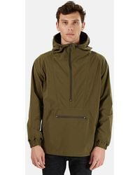 Remi Relief Nylon Anorak Jacket - Green
