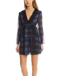 Thakoon Addition Lace Striped Dress - Blue