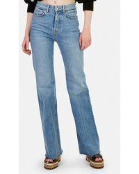 GRLFRND Carla Wide Leg Jeans - Blue