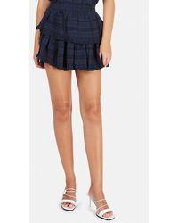LoveShackFancy Ruffle Mini Skirt - Blue