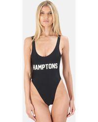Private Party Hamptons One Piece Swimsuit Swimwear - Black