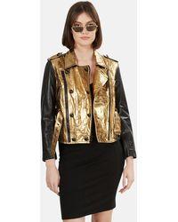 3.1 Phillip Lim 3.1 Leather Jacket - Metallic